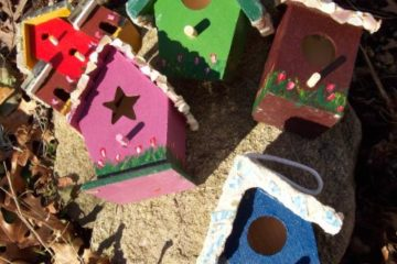 Textured & Painted Bird Houses