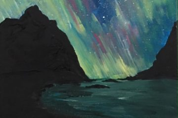 Northern Light Painting on Canvas