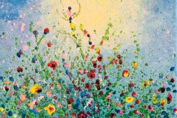 Spring Meadow Ptg. on Canvas
