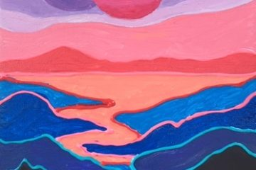 Ted Harrison Inspired Landscape Painting
