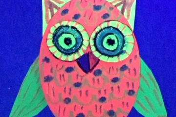 Neon Glow Owl