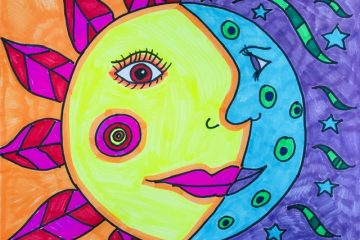 Picasso Sun & Moon Drawing